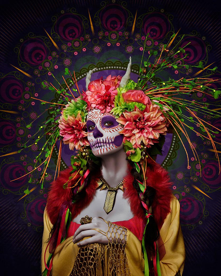 Day Dead Dia Muertos Las Muertas Tim Tadder