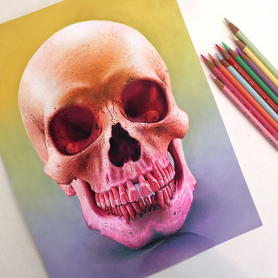 Art colored pencils - 22 Year Old Artist Creates Hyper Realistic Pencil Drawings Bursting With Color