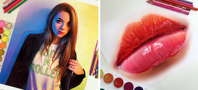 22 year old artist creates hyper realistic pencil drawings bursting with color
