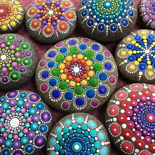 Stones Into Tiny Mandalas By Painting