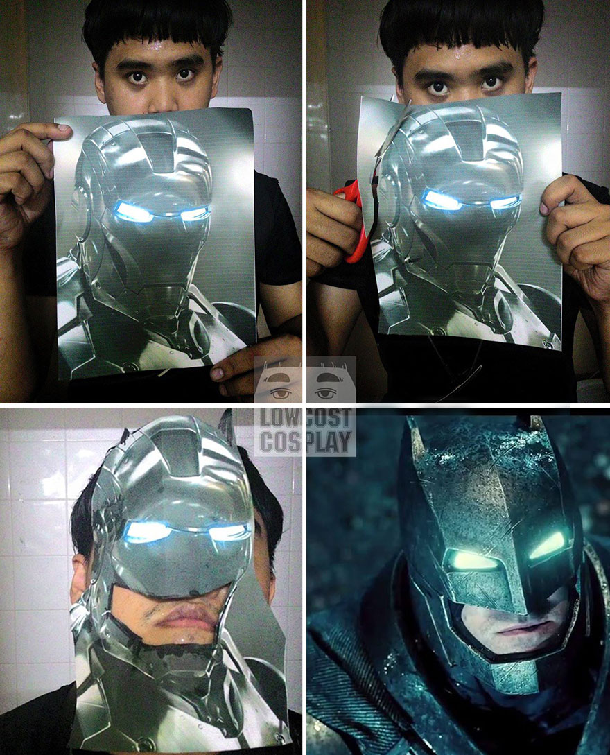 cheap cosplay guy creates costumes from low-cost household objects