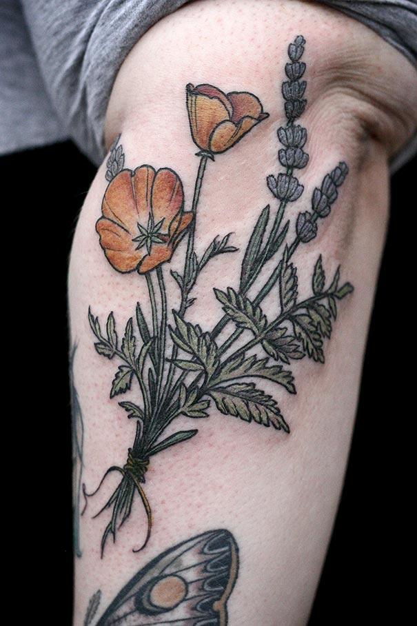 Beautiful Botanical Tattoos By Salem Witch Descendant
