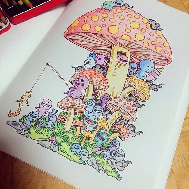 funny-adult-coloring-book-doodle-invasion-kerby-rosanes-13