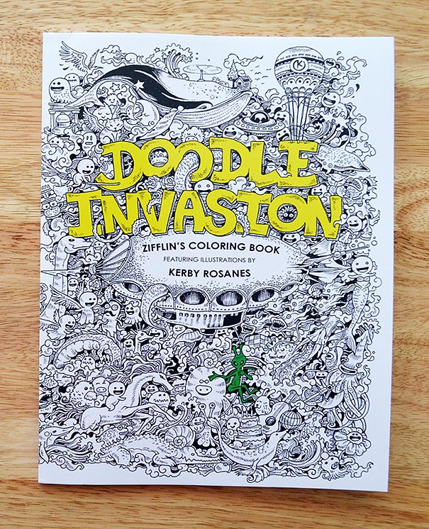 Incredibly Detailed Coloring Books For Adults Called Doodle Invasion