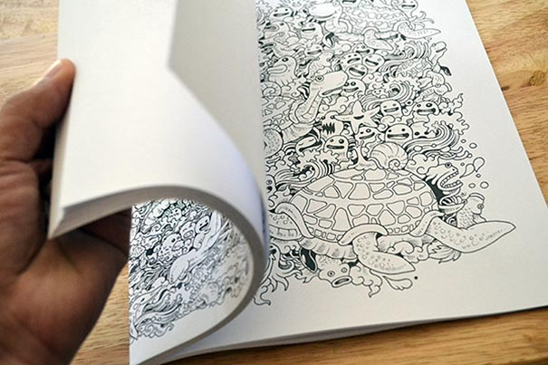 funny adult coloring book doodle invasion kerby rosanes - Best Adult Coloring Books