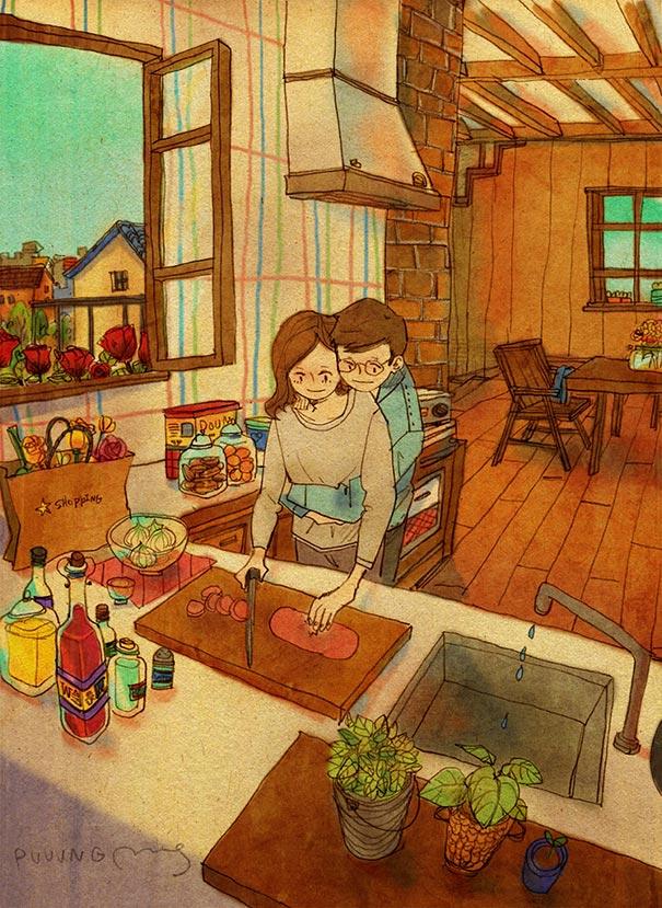 heartwarming-illustatrations-art-sweet-love-couple-puuung-32