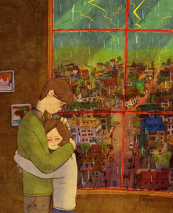 heartwarming-illustrations-art-sweet-love-couple-puuung-1