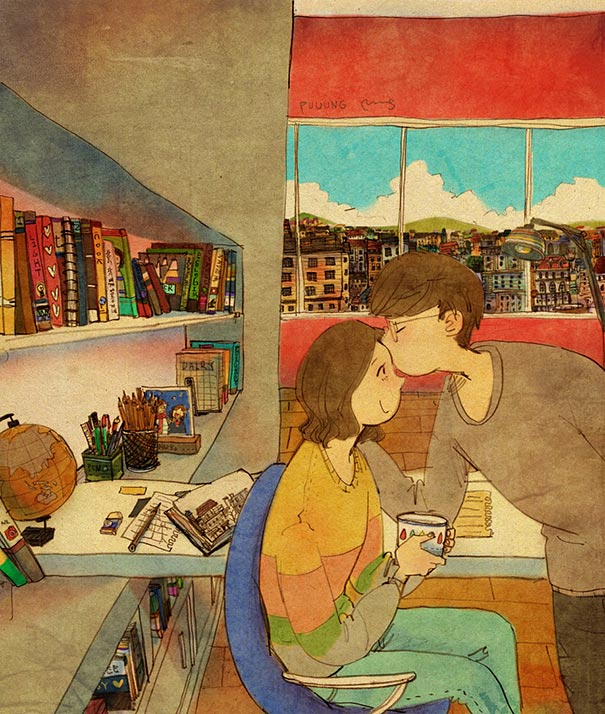 heartwarming-illustrations-art-sweet-love-couple-puuung-17