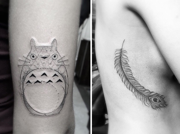 Stunning Geometric Line Tattoos By Dr Woo Demilked