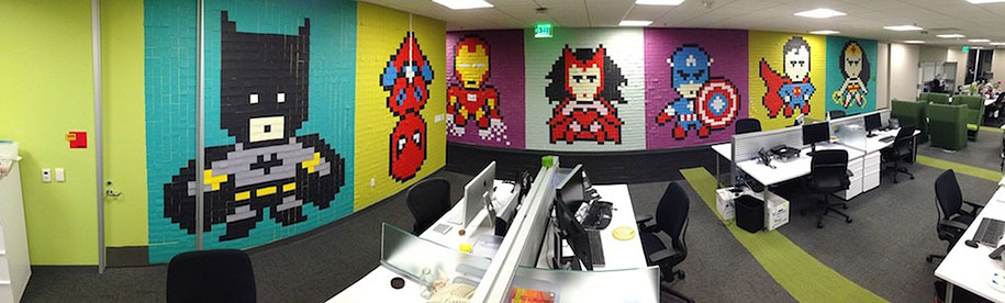 office-wall-superheroes-post-it-art-ben-brucker-06
