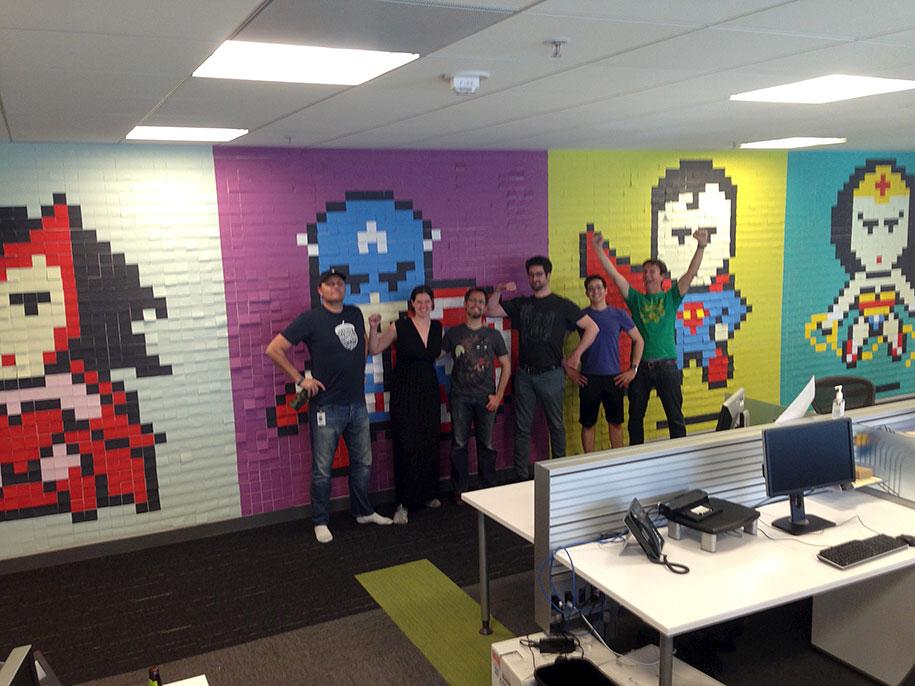 office-wall-superheroes-post-it-art-ben-brucker-11