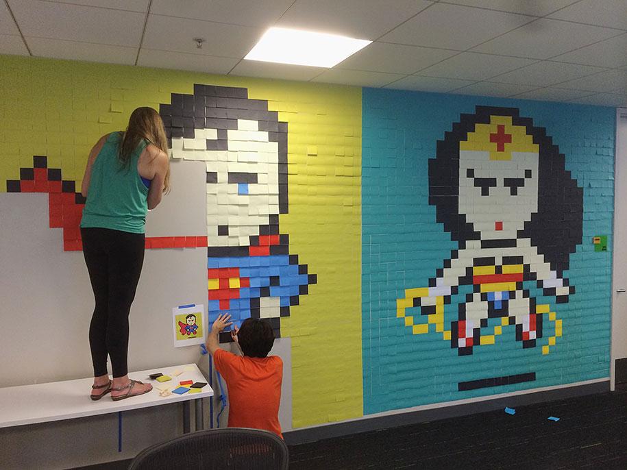 office-wall-superheroes-post-it-art-ben-brucker-17
