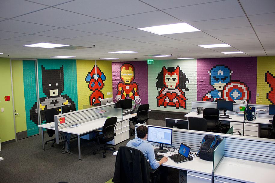 office-wall-superheroes-post-it-art-ben-brucker-30