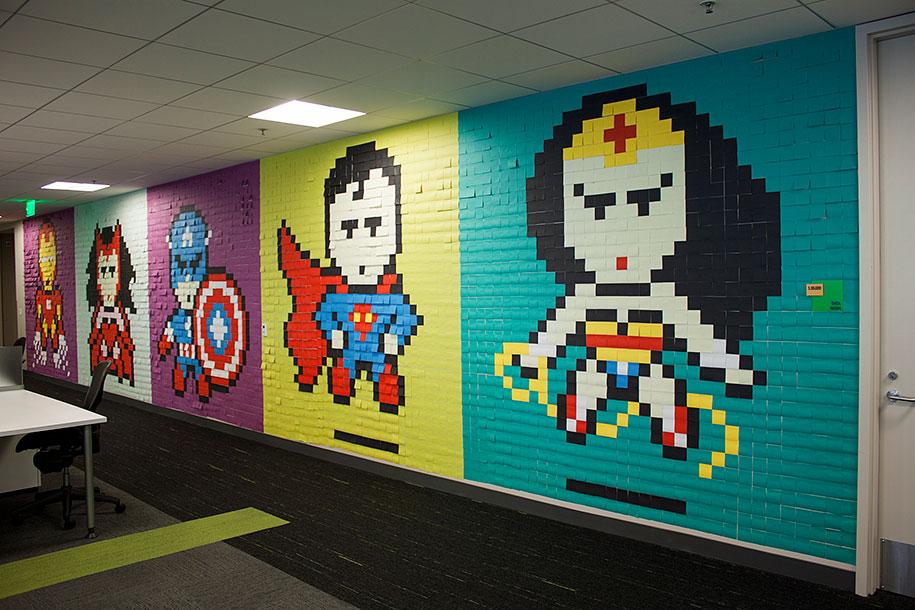 office-wall-superheroes-post-it-art-ben-brucker-33