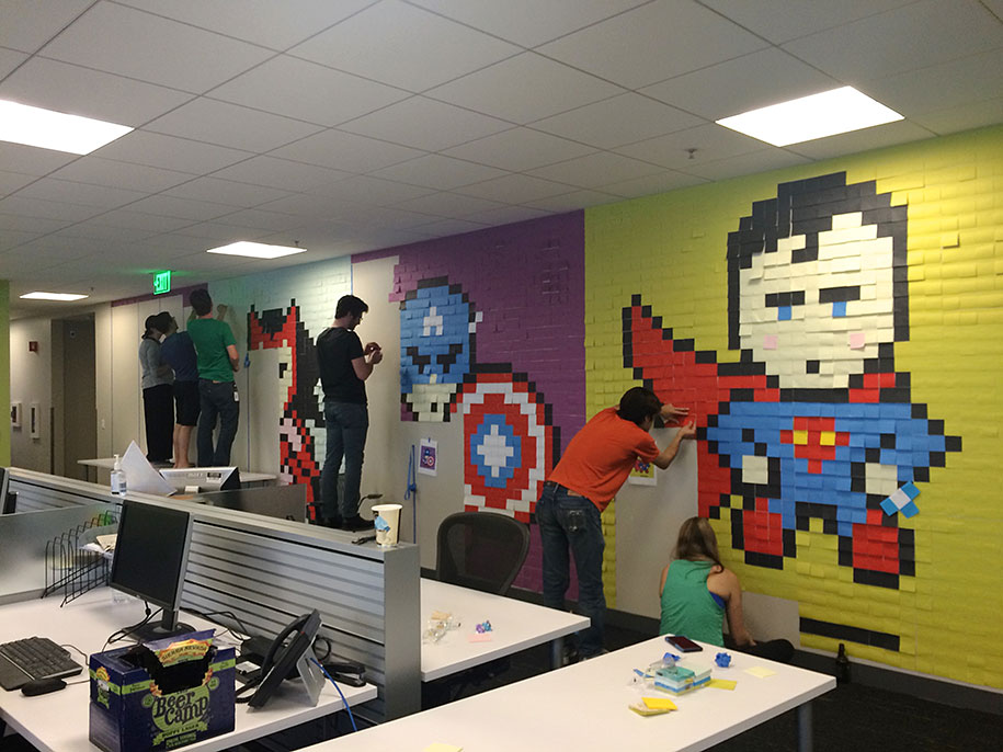 office-wall-superheroes-post-it-art-ben-brucker-88