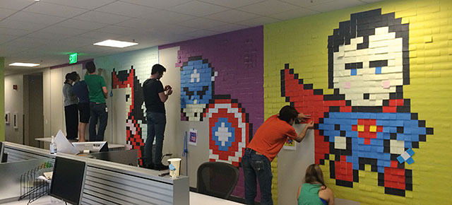 Bored Employee Uses 8024 PostIt Notes To Transform Boring Office