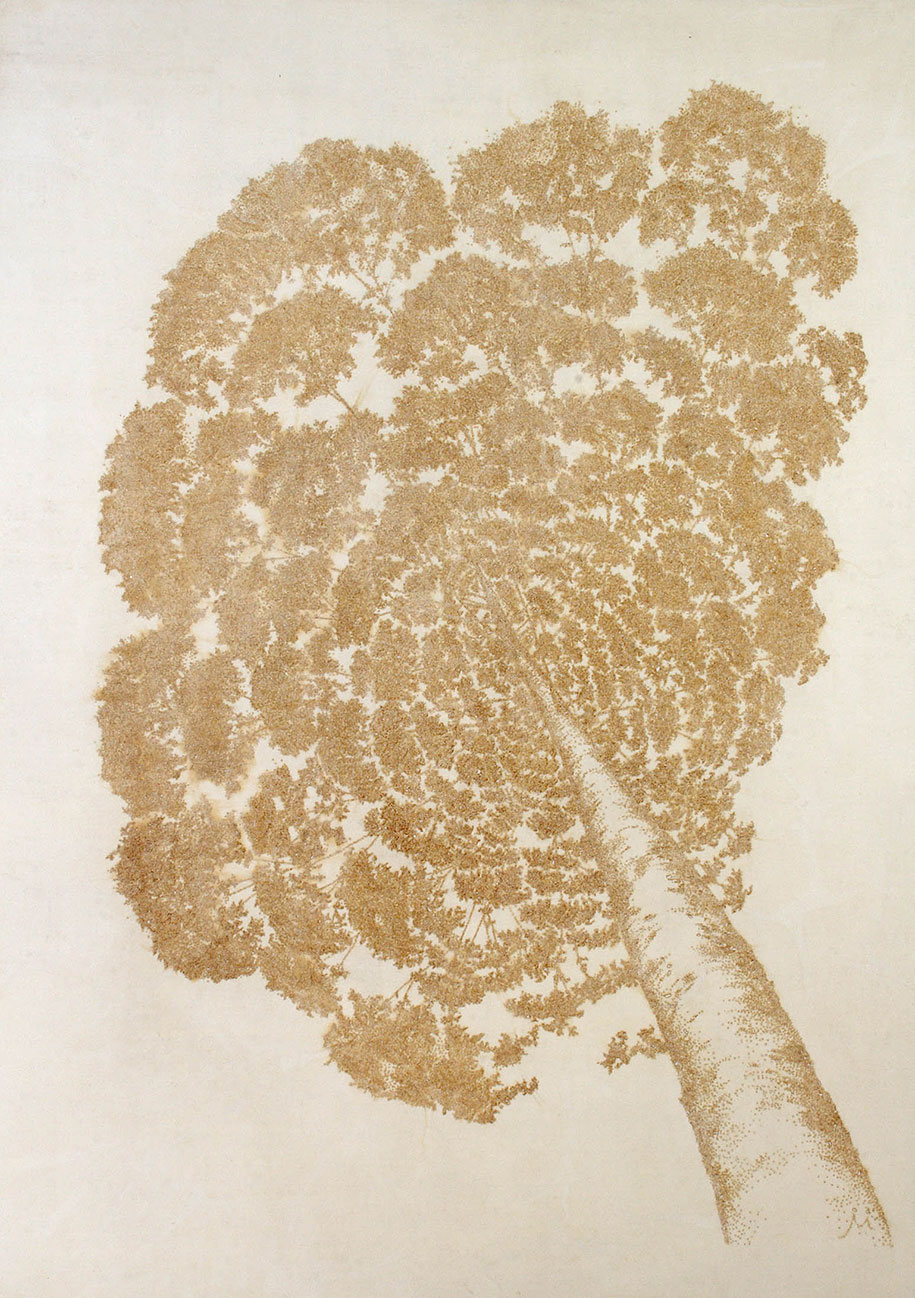 Artist Burns Holes In Paper With Incense Sticks To Make ...