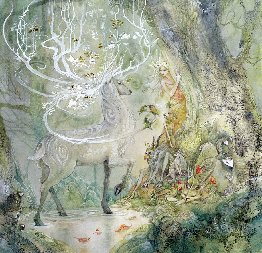 Fairytales And Dreams In Watercolor Paintings By Stephanie Pui-Mun Law
