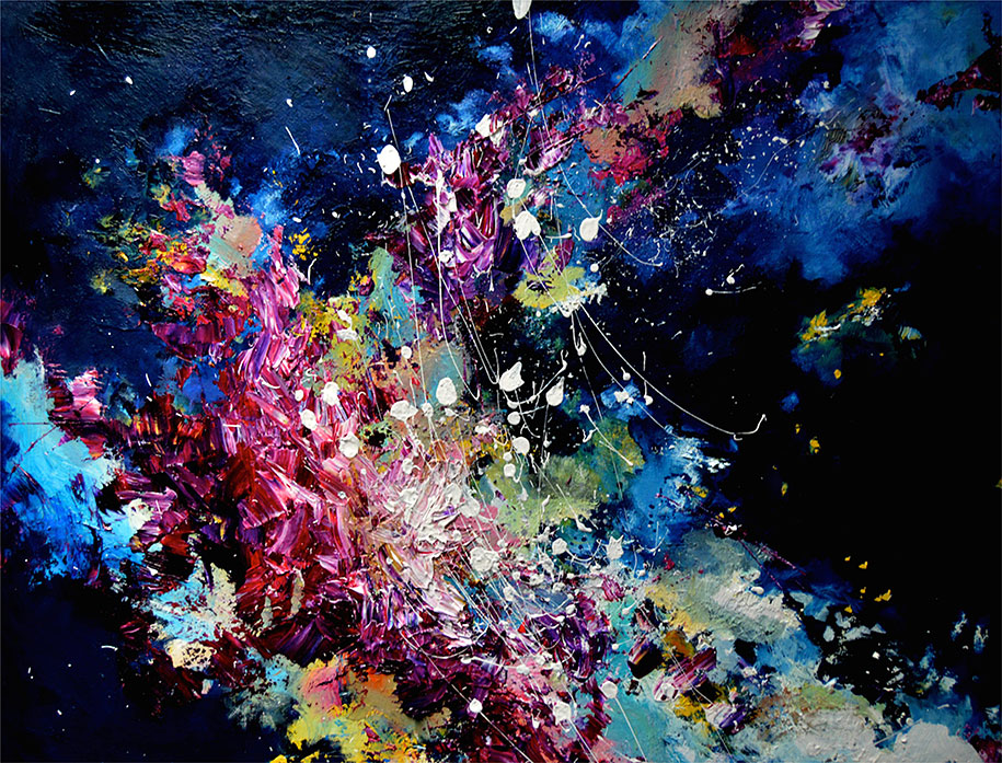 artist with synesthesia can see music as colorful paintings - Colorful Art