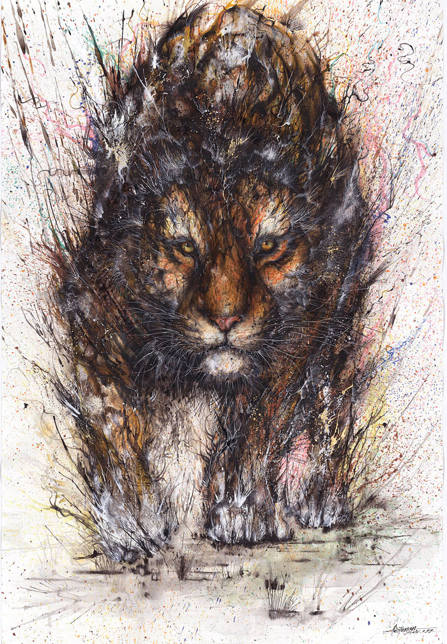 animal-paintings-ink-on-paper-hua-tunan-11