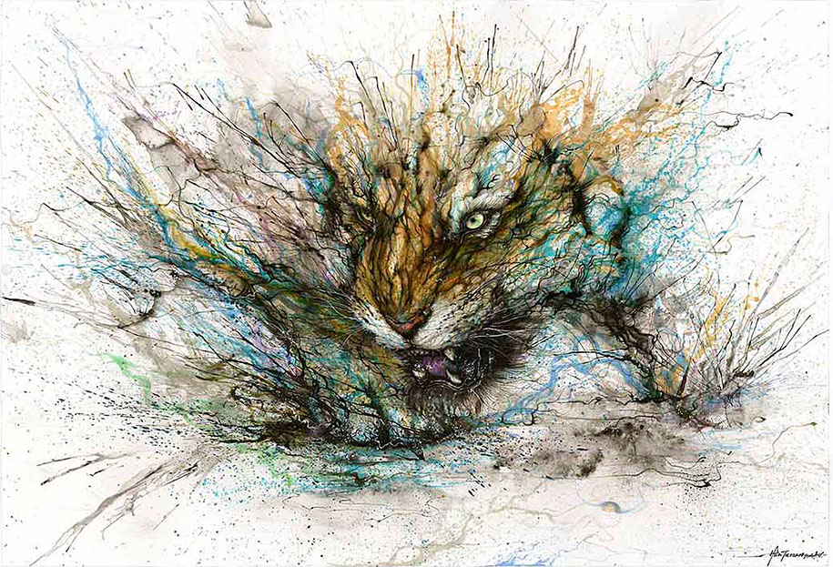 animal-paintings-ink-on-paper-hua-tunan-5