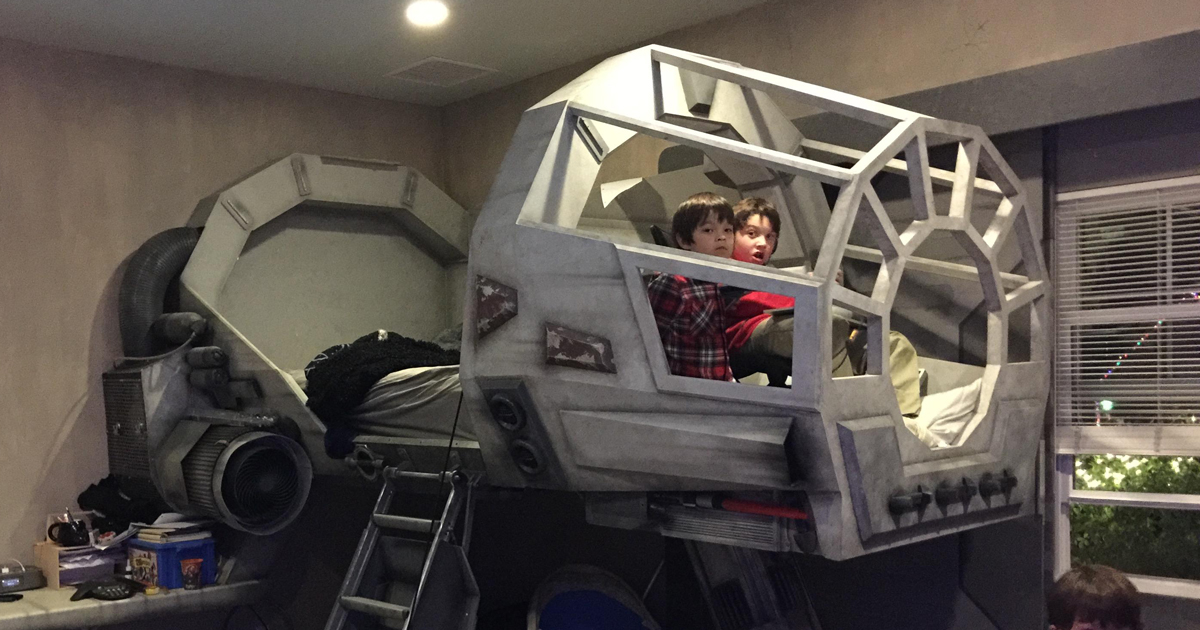 Creative Dad Makes His Son An Epic Star Wars Millennium