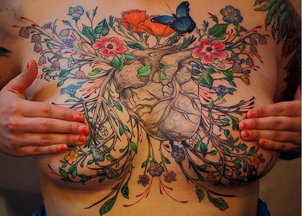 Tattoo Artists Help Breast Cancer Survivors Turn Scars