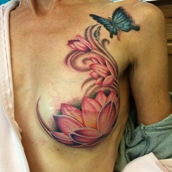 Tattoo Artists Help Breast Cancer Survivors Turn Scars Into Beauty ...