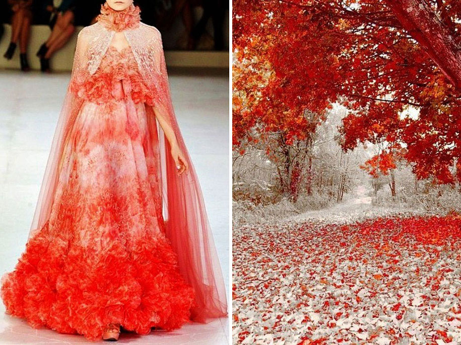 Fashion Inspired By Nature Russian Artist Compares Famous Dresses And Landscapes