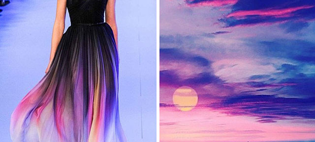 Fashion Inspired By Nature Russian Artist Compares Famous Dresses And Landscapes Demilked