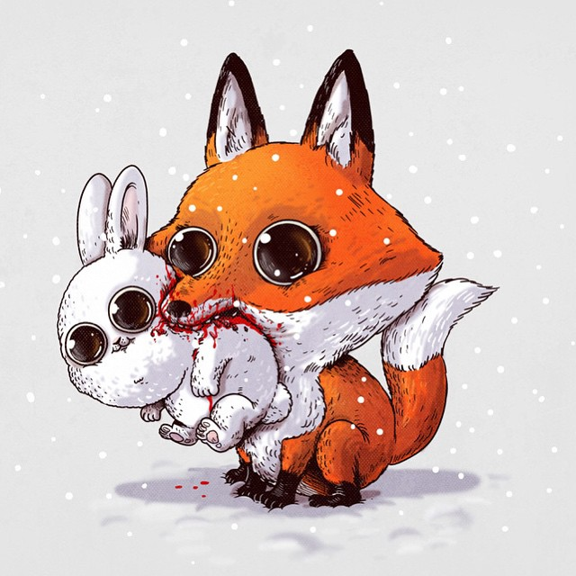 cute-disturbing-animal-drawings-predator-prey-alex-solis-alexmdc-2
