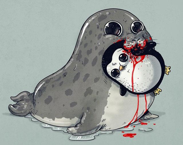 Image of: Cute Cartoon Drawings Demilked Cute Predators Vs Usedtobecute Prey
