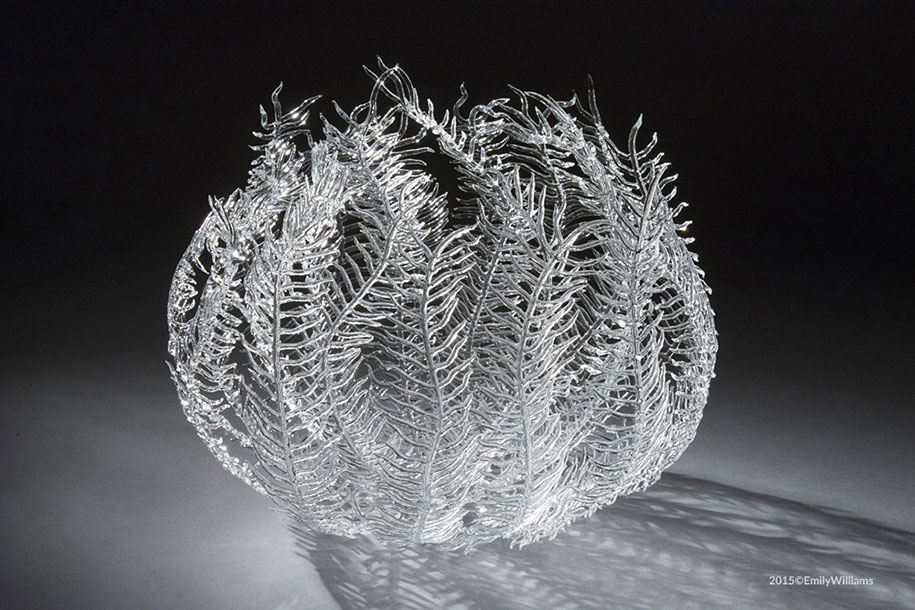 Fire Meets Water In Glass Sculptures By Emily Williams