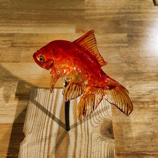 JAPANESE CANDY ART Goldfish, Frog, Cat, Dog Amezaiku Tokyo ...