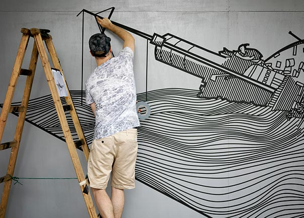 Tape Street Art By Buff Diss