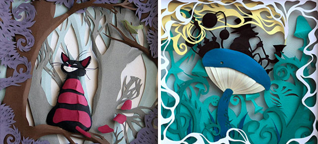 alice in wonderland d papercraft by marina adamova