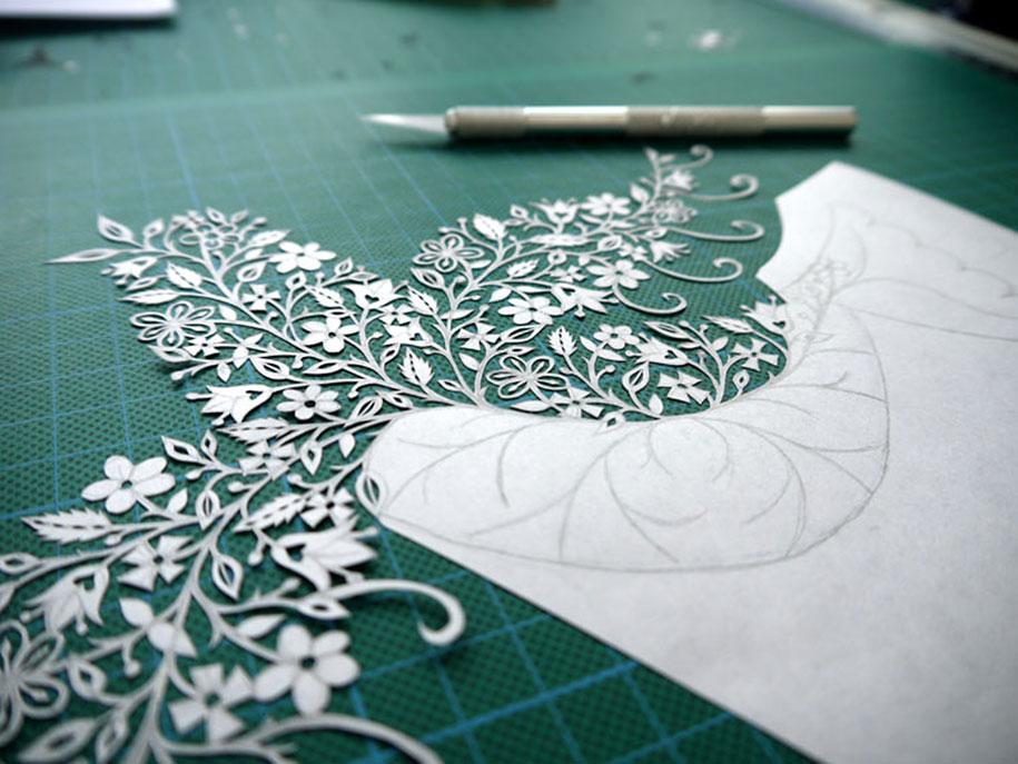 incredible paper art hand