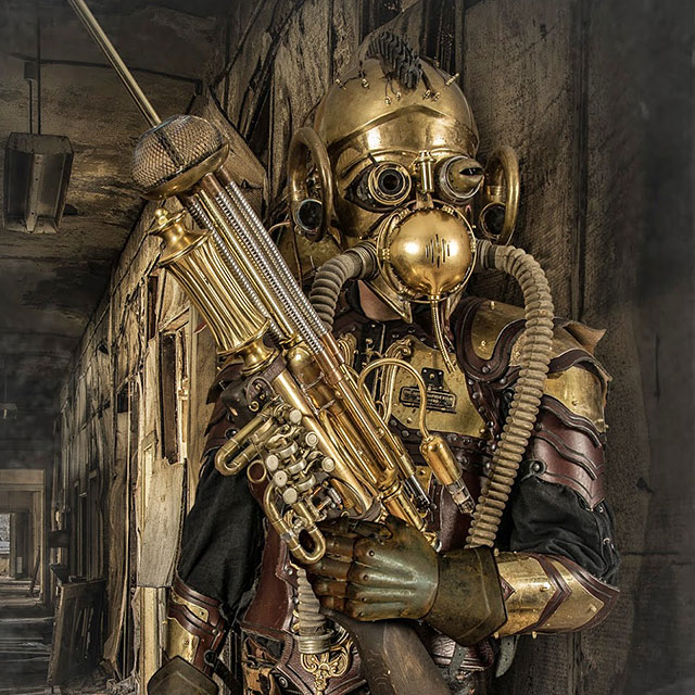 Artist Creates Steampunk Costumes From Old Parts He Finds