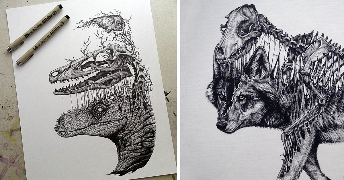 You Will Try To Hold Your Skull Inside After Seeing These Drawings