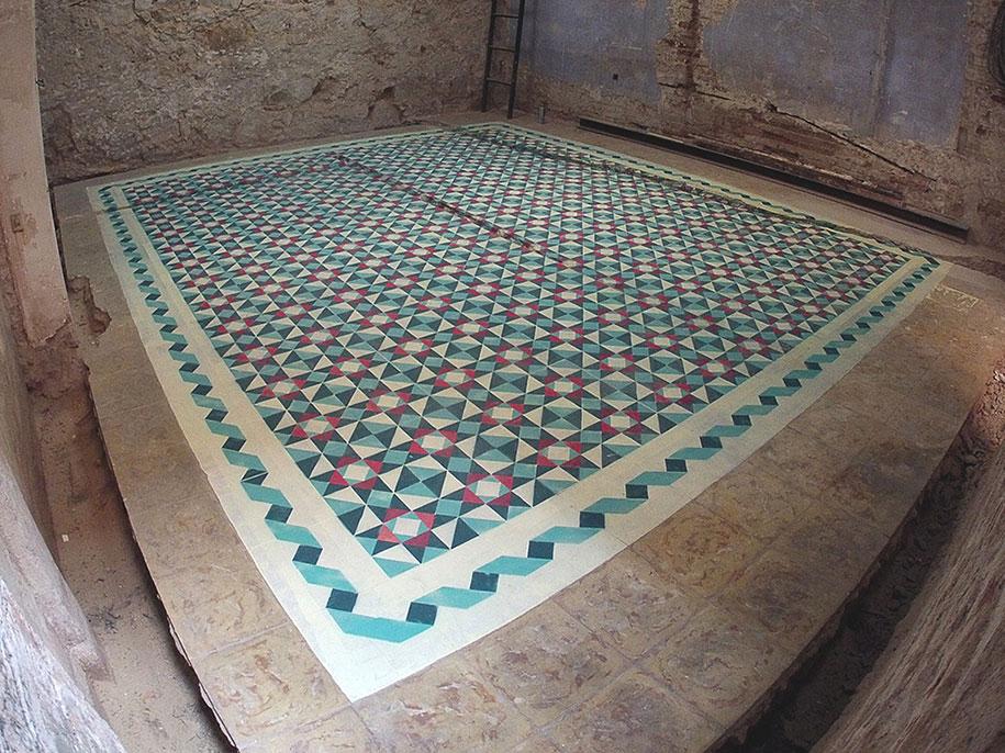 Mosaic tile designs for bathroom floors tile designs for bathroom - Graffiti Artist Spray Paints Abandoned Buildings Floors