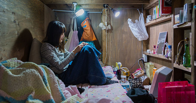 Shocking Images Of People Living In Extremely Tiny Spaces