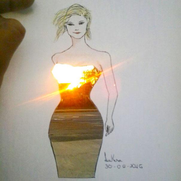 Sketch Paper Cutout Art Fashion Design Architecture Shamekh