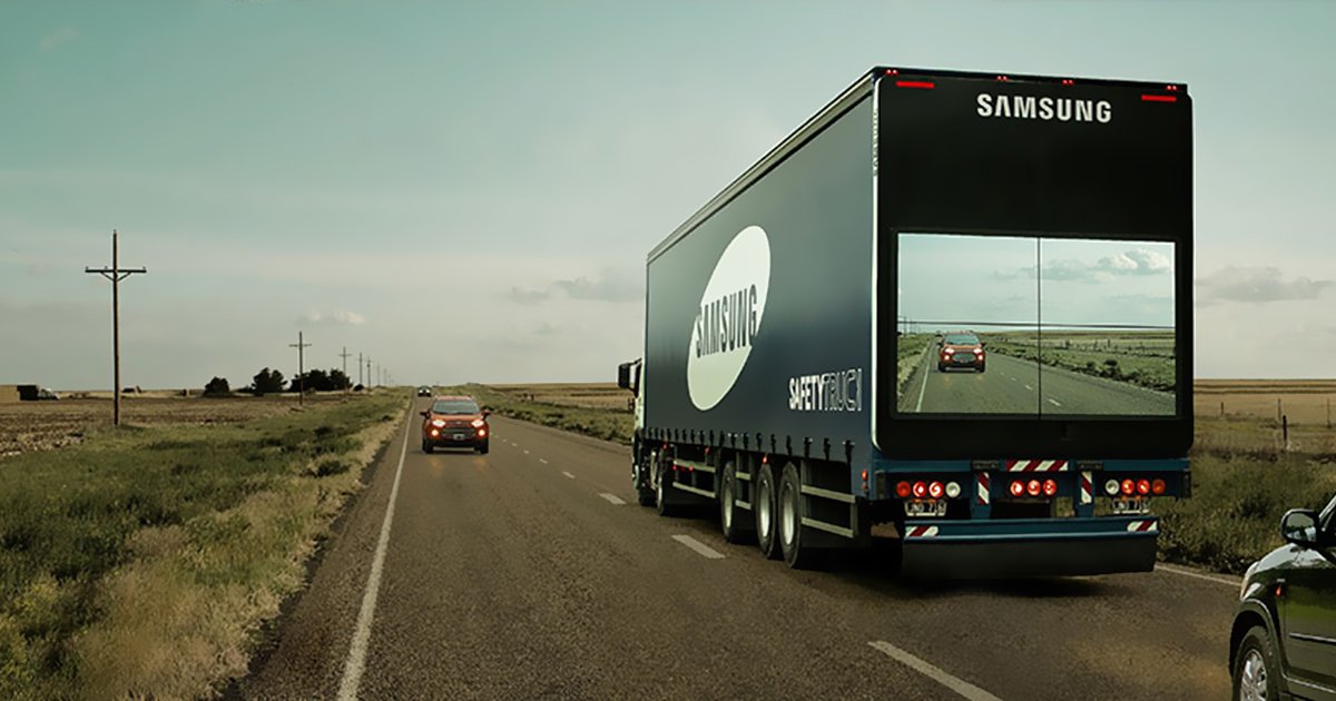 Samsung S Safety Truck Films The Road Ahead And Shows It