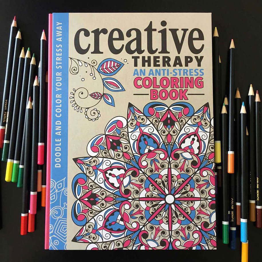 Adult Coloring Book Antistress Creative Therapy Hannah Davies
