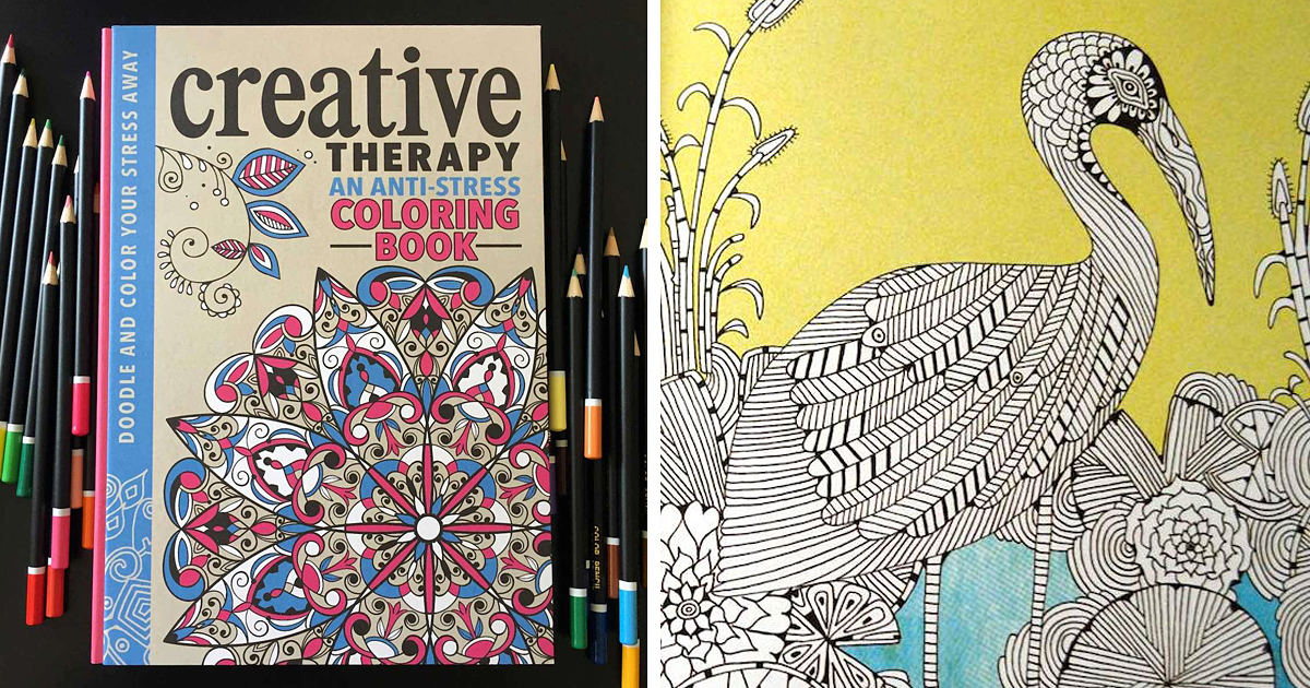 Anti Stress Coloring Book Is Creative Therapy For Adults