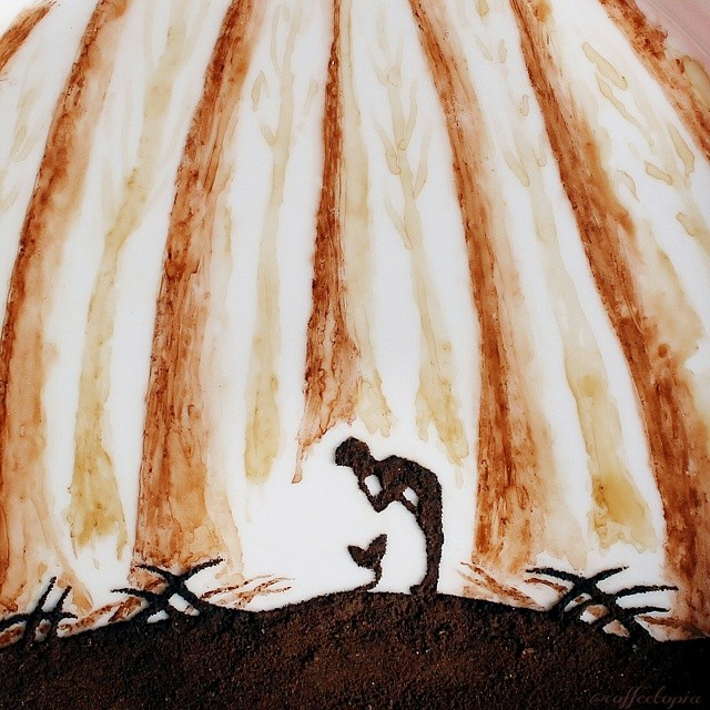 Artist Turns His Morning Coffee Leftovers Into Beautiful