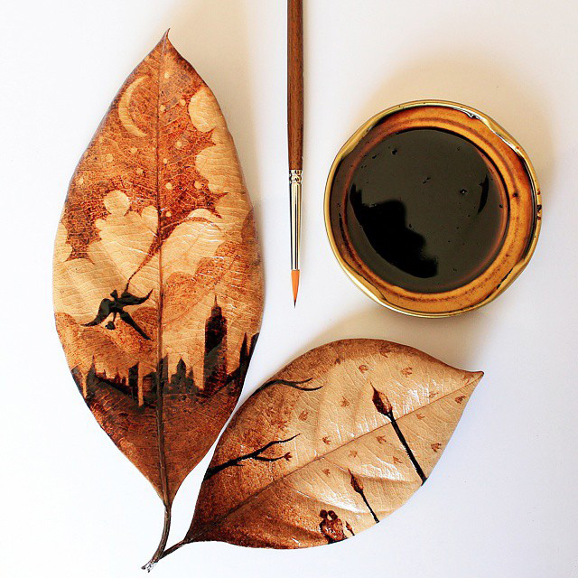 Artist Turns His Morning Coffee Leftovers Into Beautiful Leaf ...