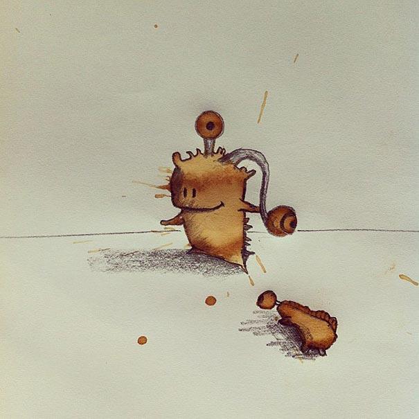coffee-stain-doodle-monsters-coffeemonsters-stefan-kuhnigk43