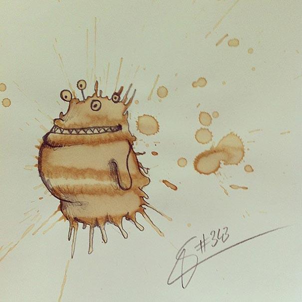 coffee-stain-doodle-monsters-coffeemonsters-stefan-kuhnigk44