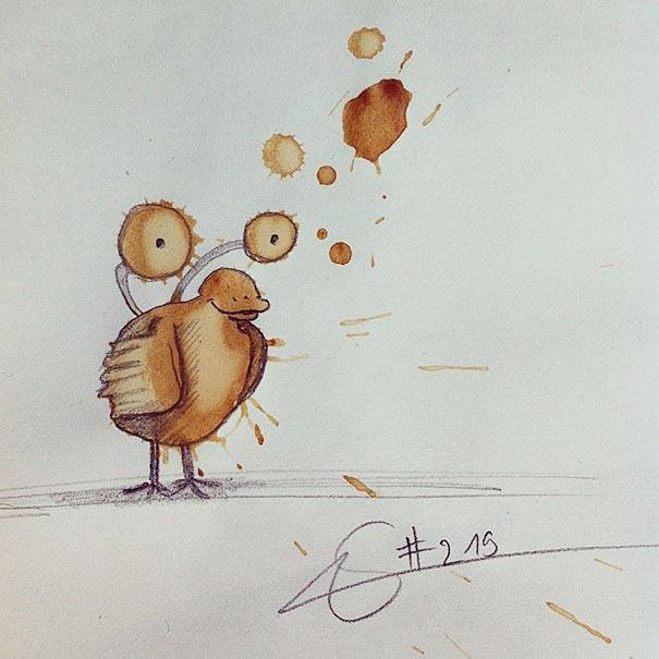 coffee-stain-doodle-monsters-coffeemonsters-stefan-kuhnigk56